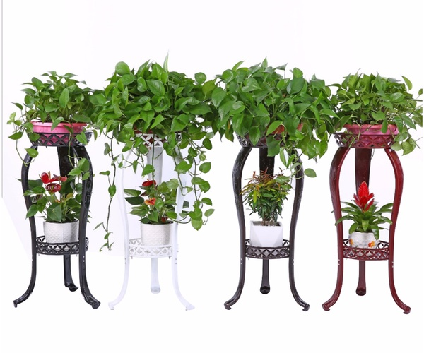 2-Tiered Scroll Classic Plant Stand HHAIPS03